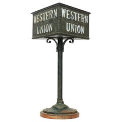 Bronze 2 Sided Western Union Lighted Counter Sign