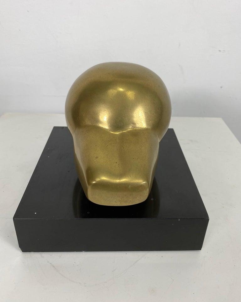 Bronze Abstract Sculpture by Gerda Thune Andersen, Denmark For Sale 1