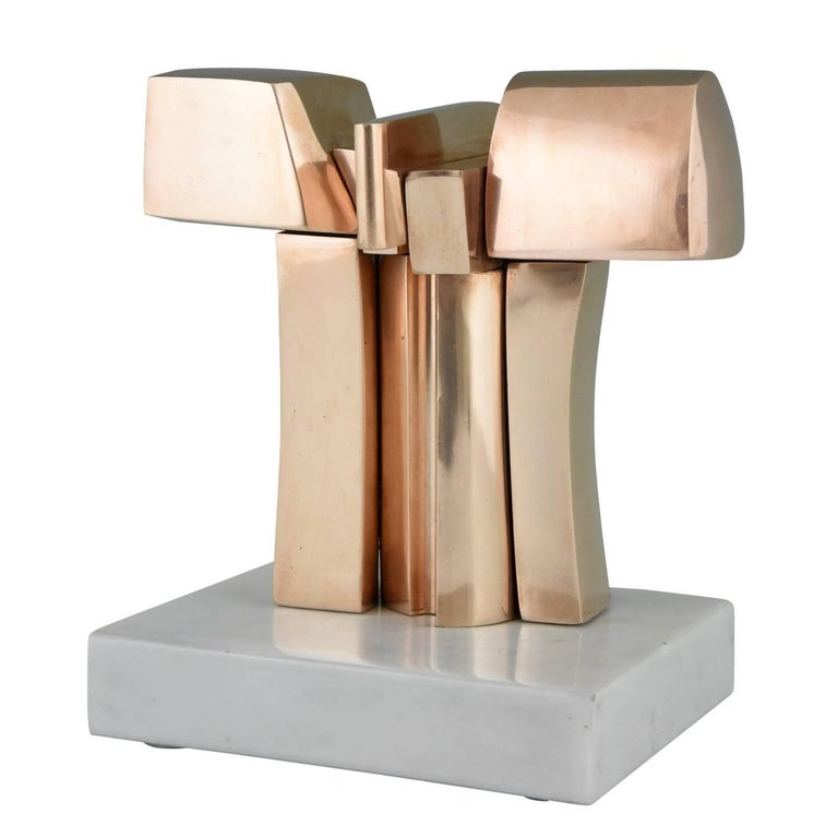 Bronze Abstract Sculpture José Luis Sanchez Mid-Century Modern, 1970