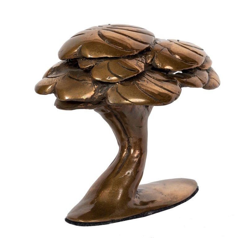 """This charming signed solid bronze """"tree"""" is from Canadian sculptor Jack Culiner's (1913-2013) own collection."""