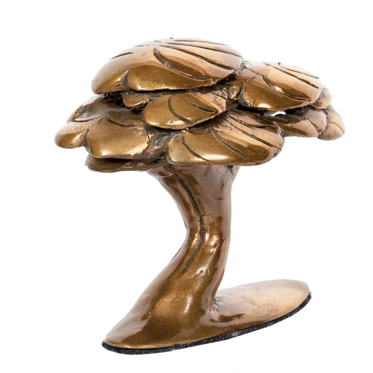 Cast Bronze Abstract Tree Sculpture by Canadian Jack Culiner For Sale