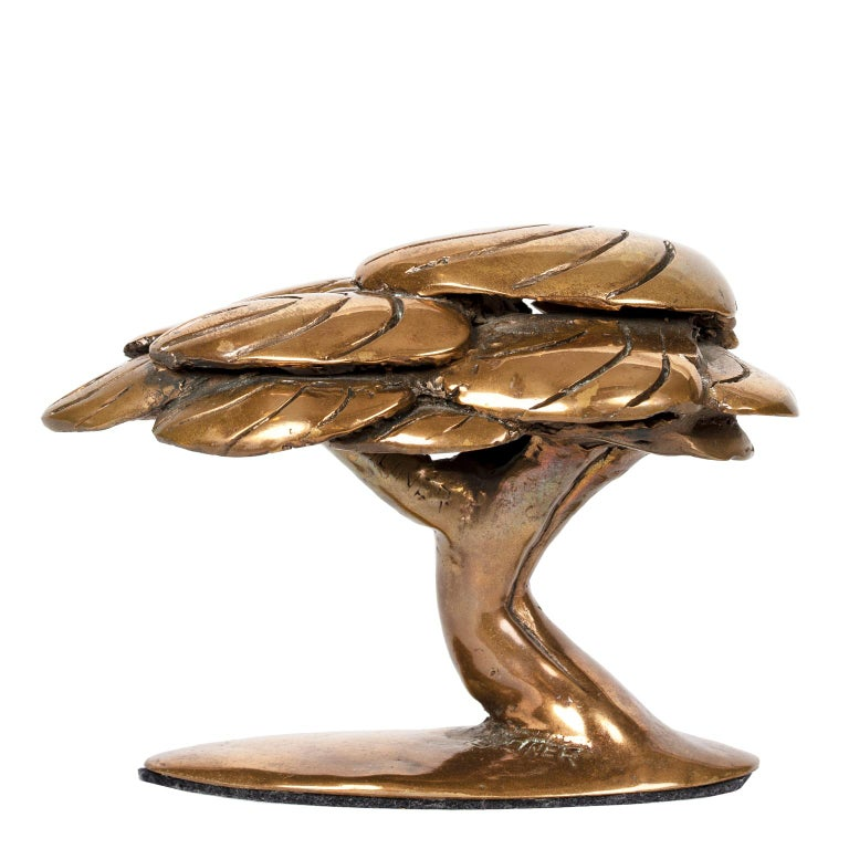 Late 20th Century Bronze Abstract Tree Sculpture by Canadian Jack Culiner For Sale