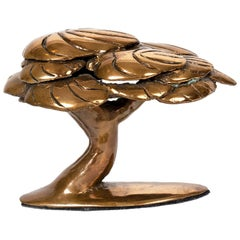 Bronze Abstract Tree Sculpture by Canadian Jack Culiner