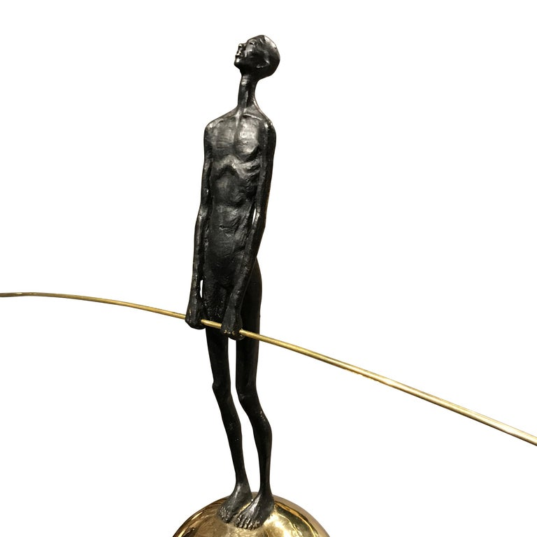 Bronze Acrobat Sculpture, Contemporary, German In New Condition For Sale In New York, NY