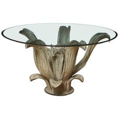 Bronze Cactus Sculpture Center or Dining Table Table