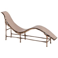 Bronze Age Chaise Longue, Modern Collectors Item, 2014, Solid Polished Bronze
