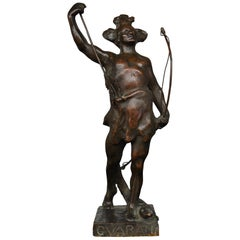 Bronze Allegory of the Americas Signed G. Varany