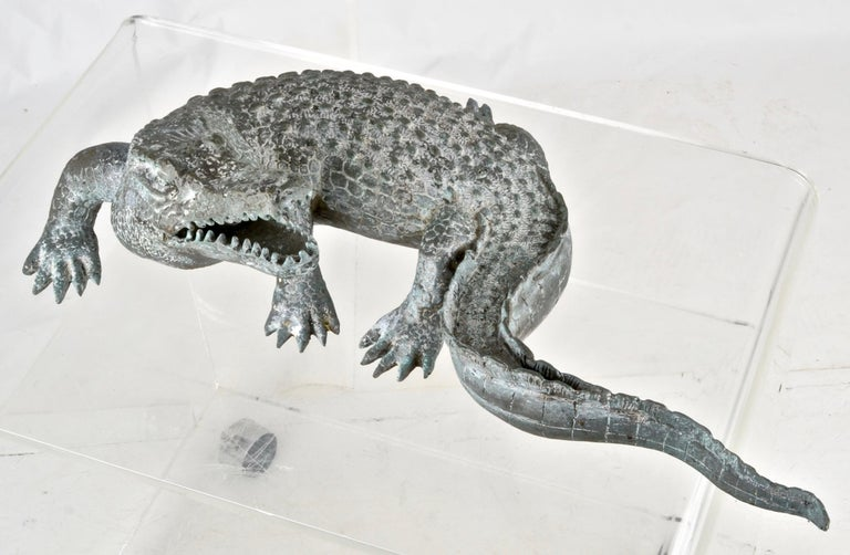 Bronze Alligator Fountain In Good Condition For Sale In Stamford, CT
