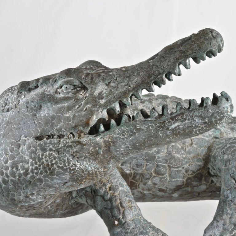 Bronze Alligator Fountain For Sale 1