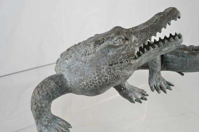 Bronze Alligator Fountain For Sale 2