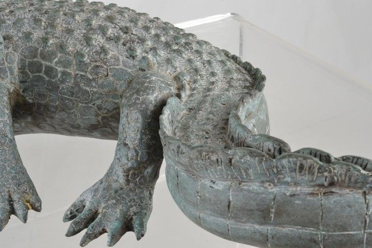 Bronze Alligator Fountain For Sale 3