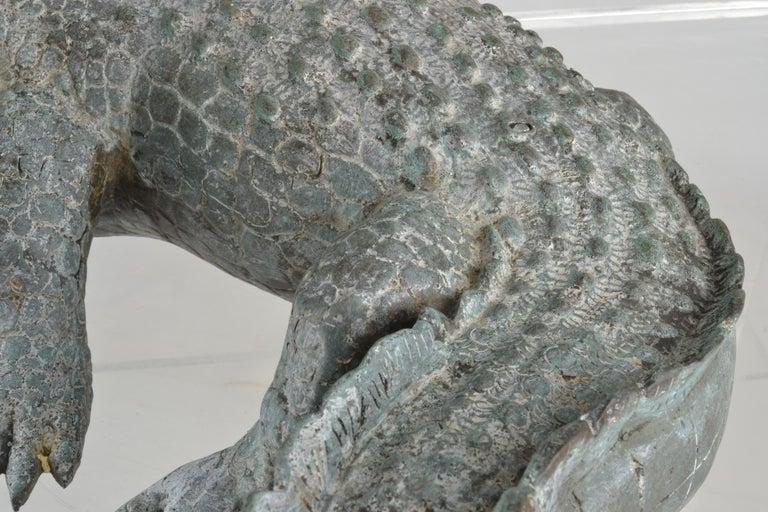 Bronze Alligator Fountain For Sale 4