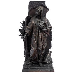 Bronze Alloy Sculpture, Signed E. Blot, France, Late 19th Century