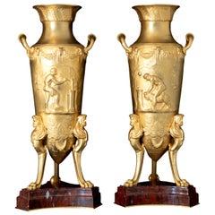 Bronze Amphorae, Levillain & Barbedienne, France, Late 19th Century