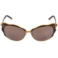 Shamballa Bronze and Black Lotus 1 Cat-Eye Sunglasses