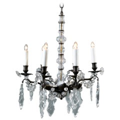 Bronze and Crystal Chandelier from France, circa 1890