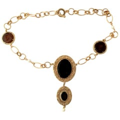Bronze and engraved Murano glass Necklace by Patrizia Daliana