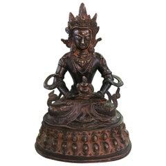 Bronze and Gilt Tibetan Sculpture of Deity Bodhisattva White Tara