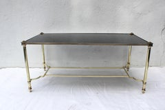 Bronze and Glass Coffee Table by Maison Jansen
