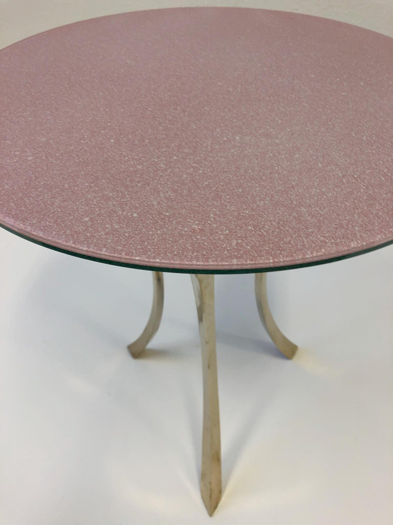 Bronze and Glass Tri-Pod Occasional Table 11