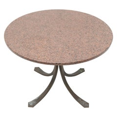 Bronze and Granite Table Side Table