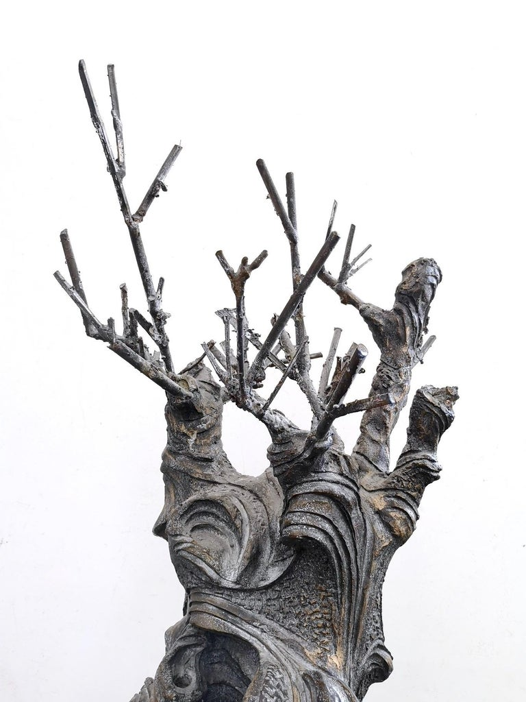 Bronze and Iron Revolving Tree Sculpture, Anonymous, Italy, 1980s For Sale 5