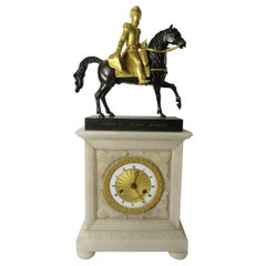 Bronze and Marble Clock