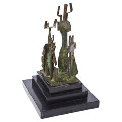 Bronze and Marble Sculpture Mid-Century Modern
