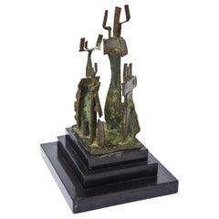 Bronze and Marble Sculpture Mid-Century Modern