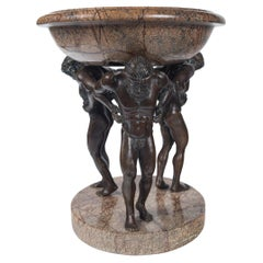 Bronze and Synthetic Marble Tazza