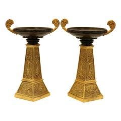 Bronze and Ormolu Tazzas of Unusual Design