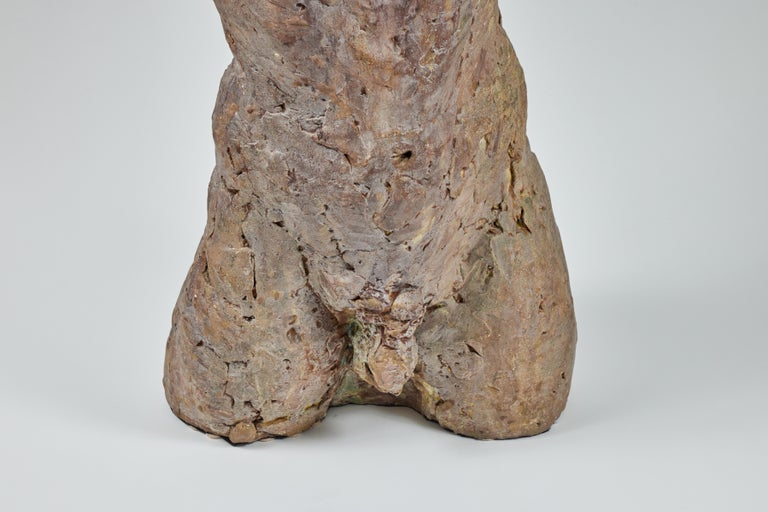 Late 20th Century Bronze and Plaster Nude Male Sculpture For Sale