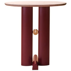 "Bronze and Quartzite ""Alcova"" Side Table, Ilaria Bianchi"