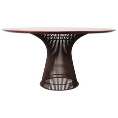 Bronze and Rosewood Dining Table by Warren Platner for Knoll