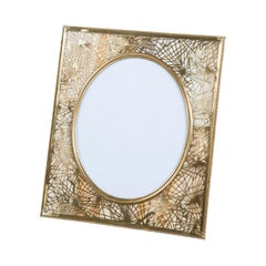 Bronze and Slag Glass Tiffany Picture Frame, Art Deco Period, United States 1900