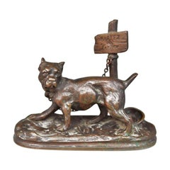"""Bronze Animal Early 20th Century """"Talk To The Porter"""""""