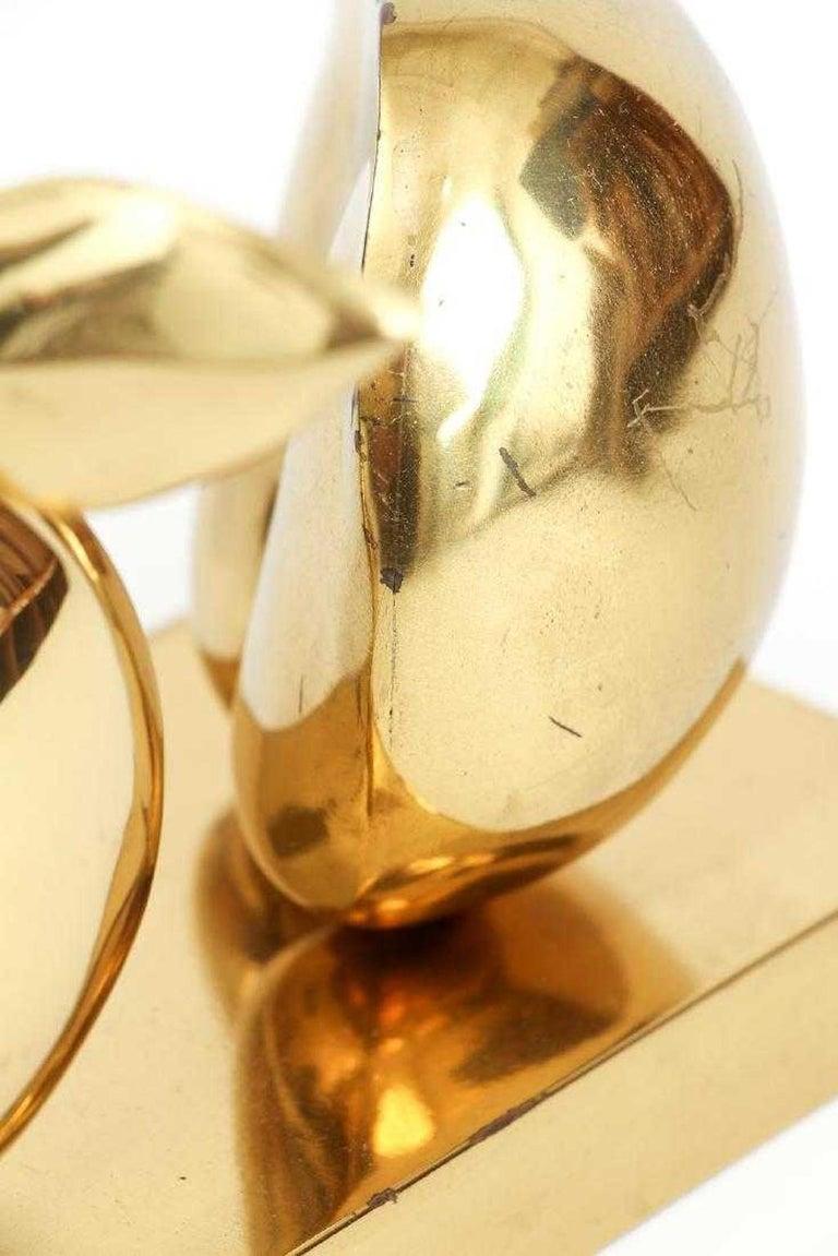 Bronze Apple Halves Sculpture For Sale 6