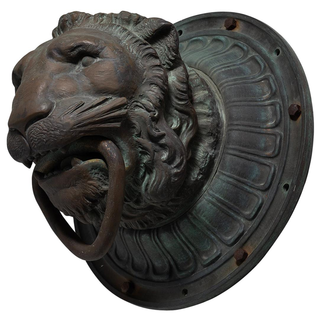 Bronze Architectural Lion Head