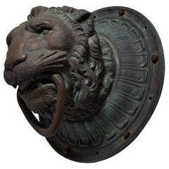 Bronze Architectural Lion Head