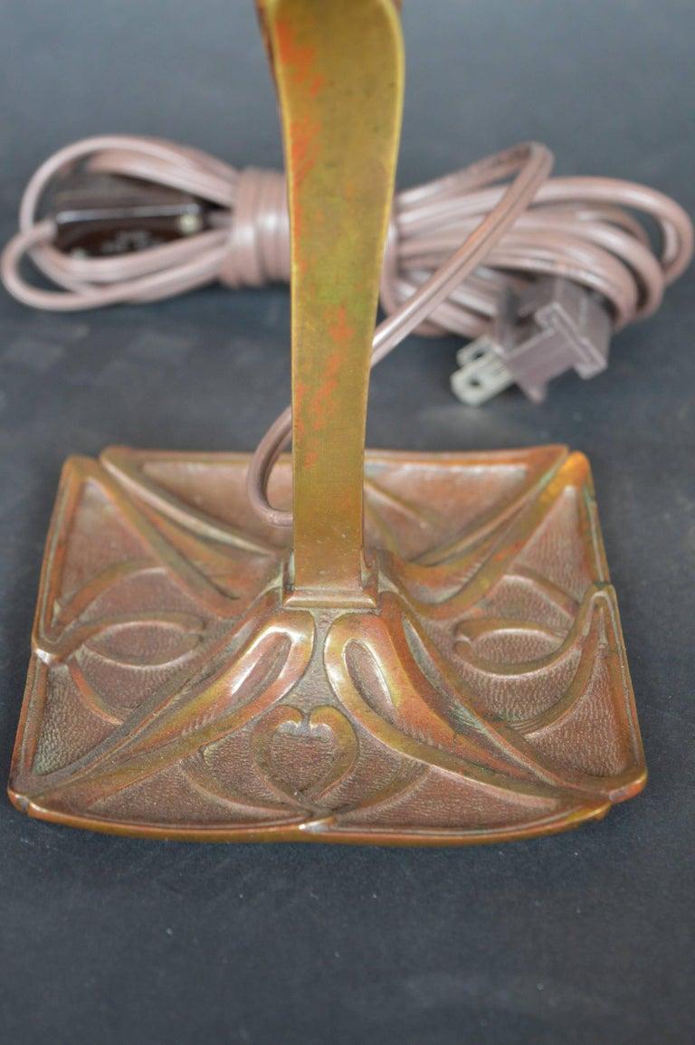 20th Century Bronze Art Nouveau Lamp For Sale