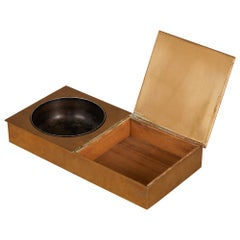 Bronze Ashtray with Cigarette Box