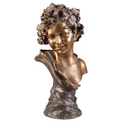 Bronze, Bacchus Young, Signed Anton NELSON