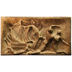 "Bronze Bas-Relief ""the Swimmers"" by Dr. O. Christev"