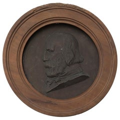 Bronze Bas-Relief with Portrait of Giuseppe Garibaldi, Late 19th Century