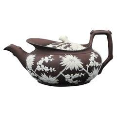 Bronze Basalt Pottery Teapot, Wedgwood C1810