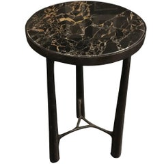 Bronze Base Marble Top Side Table, Germany, Contemporary