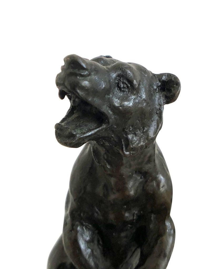 Mid-20th Century Bronze Bear Sculpture by Carvin, Art Deco, France, 1930s For Sale