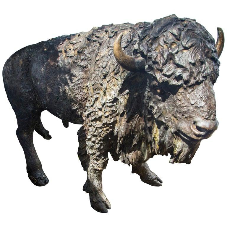 Bronze Bison For Sale