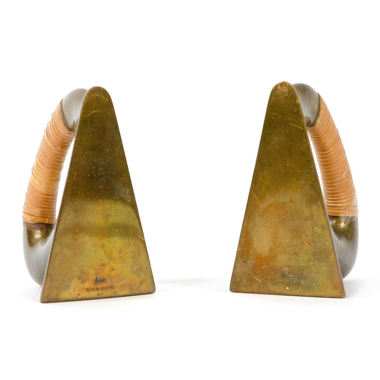 Mid-Century Modern Bronze Bookends by Carl Aubock