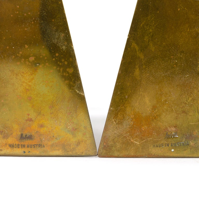 Bronze Bookends by Carl Aubock In Good Condition In Sagaponack, NY